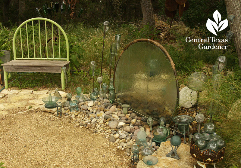table top waterfall Elayne Lansford Central Texas Gardener