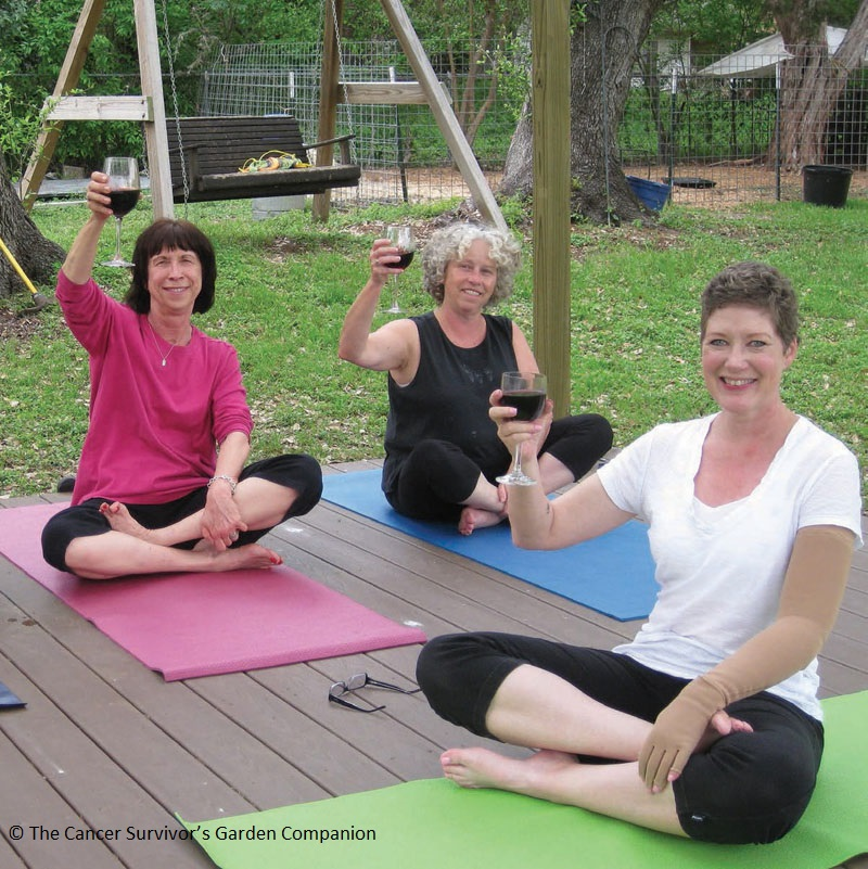 yoga Jenny Peterson Cancer Survivor's Garden Central Texas Gardener