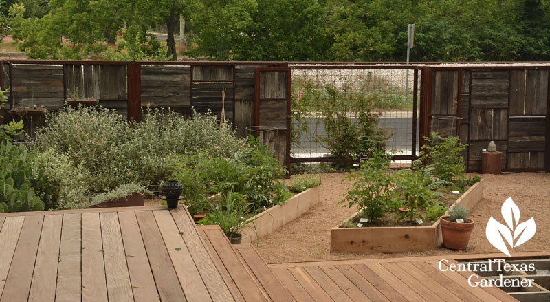 deck levels recycled fence no lawn garden Central Texas Gardener
