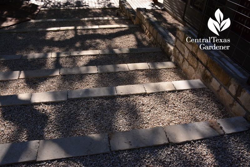 pathway curbs gravel water control Central Texas Gardener