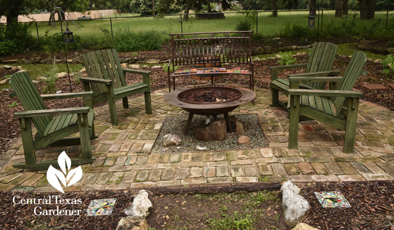 brick patio firepat outdoor living Central Texas Gardener
