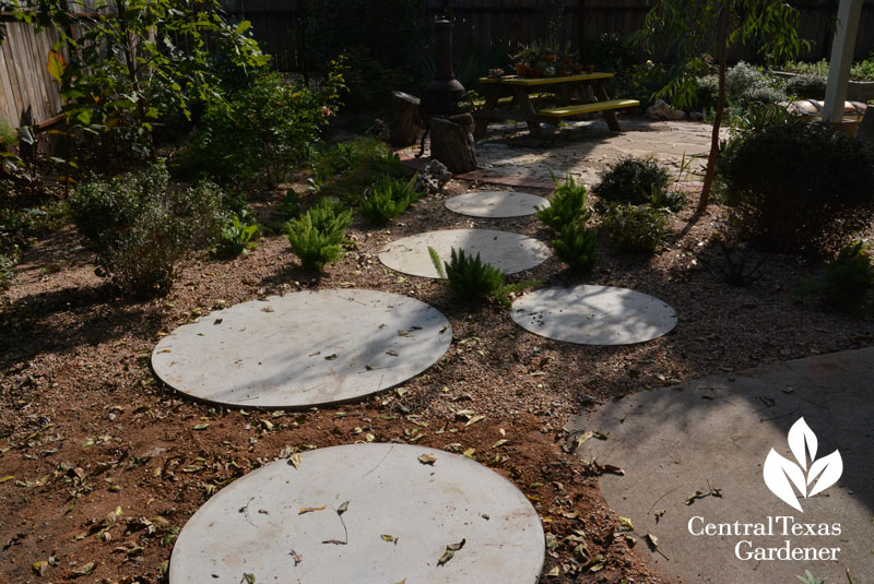 concrete rounds path Casey Boyter Central Texas Gardener