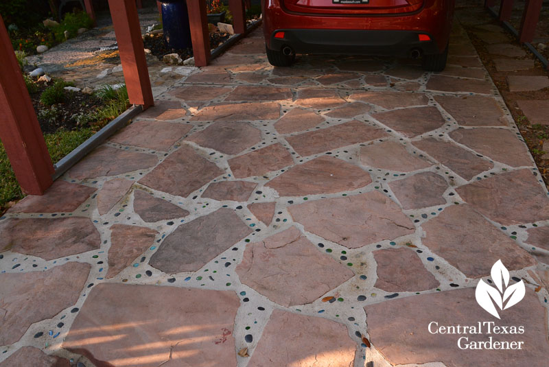 flagstone marble carport floor Central Texas Gardener