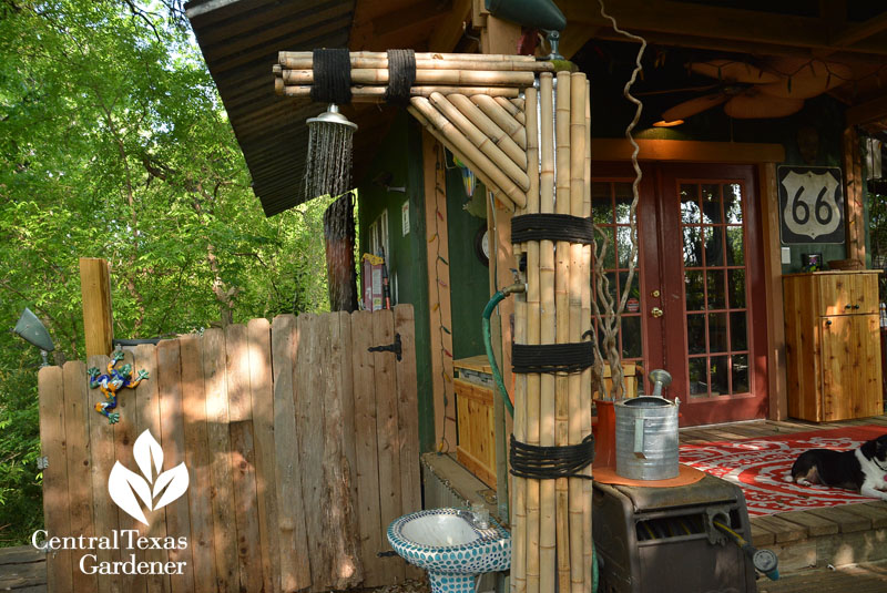 outdoor shower Central Texas Gardener