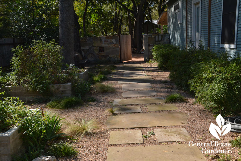pathway mixed stone Casey Boyter Central Texas Gardener