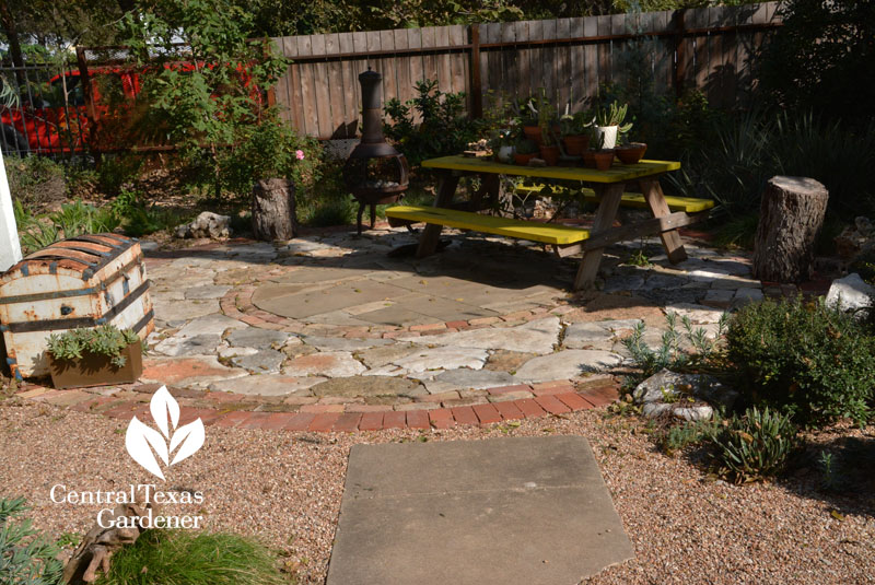 patio design mixed stonework Casey Boyter Central Texas Gardener