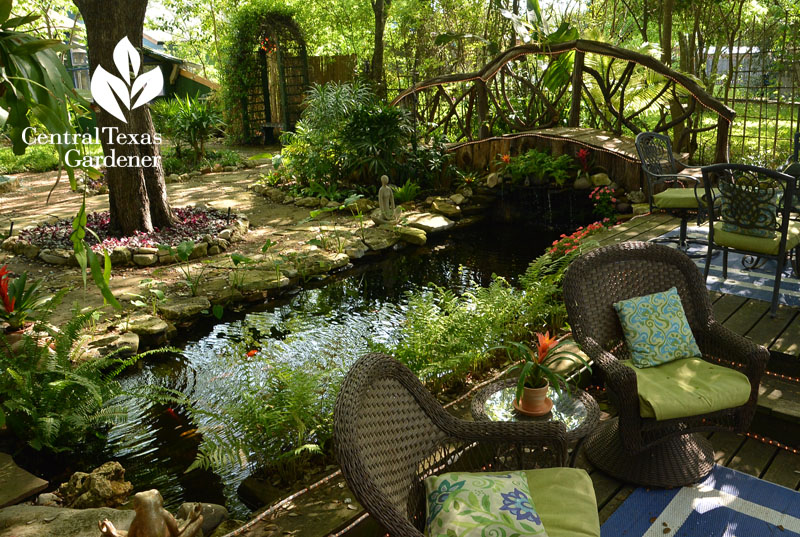 patio to pond Central Texas Gardener