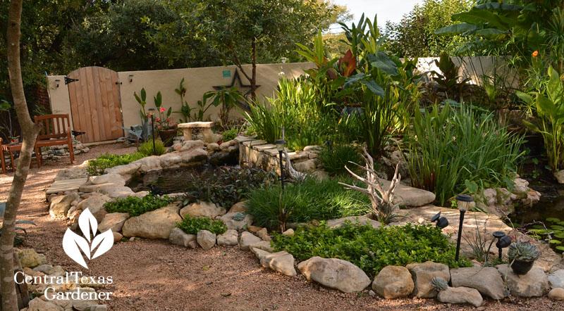 Backyard Pond Patio Courtyard Central Texas Gardener
