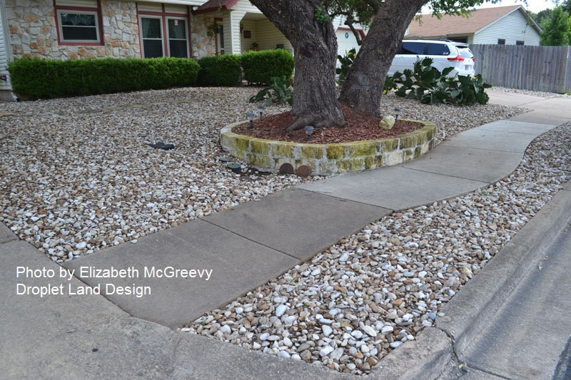 bad use of rocks front yard McGreevy design Central Texas Gardener