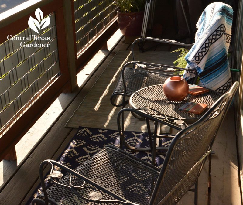 outdoor rugs balcony garden Central Texas Gardener