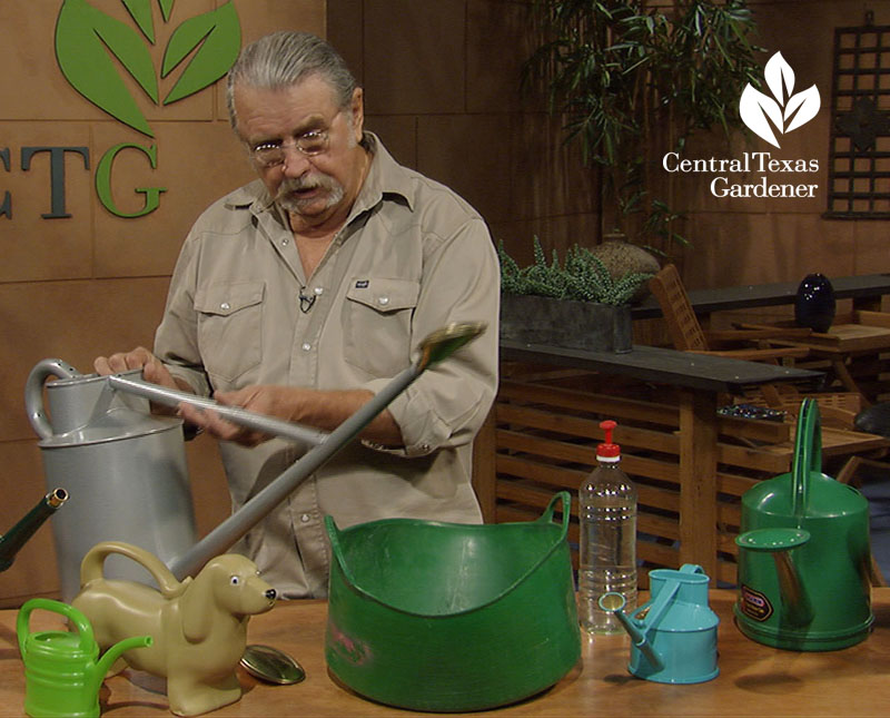best watering cans John Dromgoole Central Texas Gardener