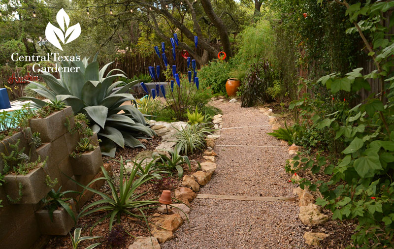 gravel path control rainwater Pam Penick Central Texas Gardener