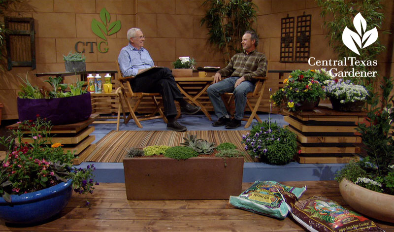 Tom Spencer and Marcus Young container design Central Texas Gardener