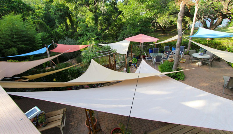 garden shade sails photo by Lydia Kendrick Central Texas Gardener