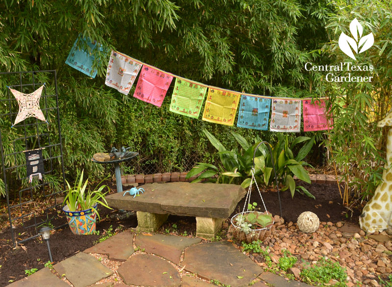 prayer flags niche Central Texas Gardener