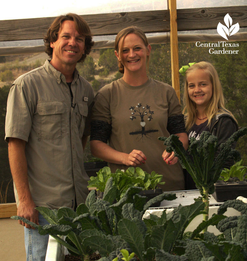 Rob Nash family Austin Aquaponics Central Texas Gardener