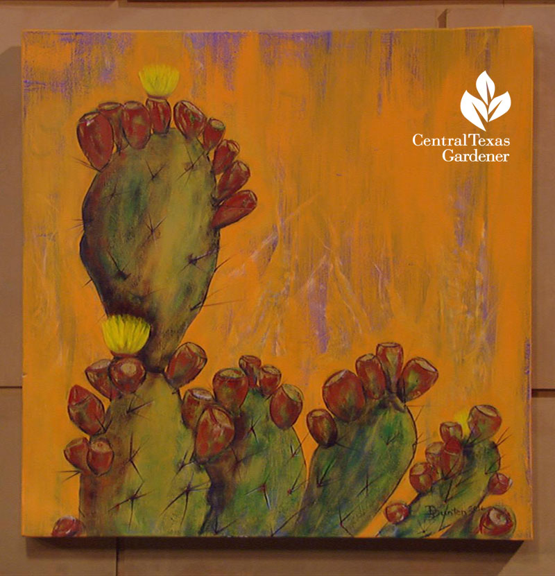 cactus painting by Darrell Dunten Central Texas Gardener
