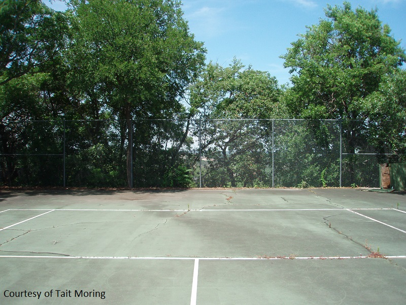 tennis court before garden Central Texas Gardener