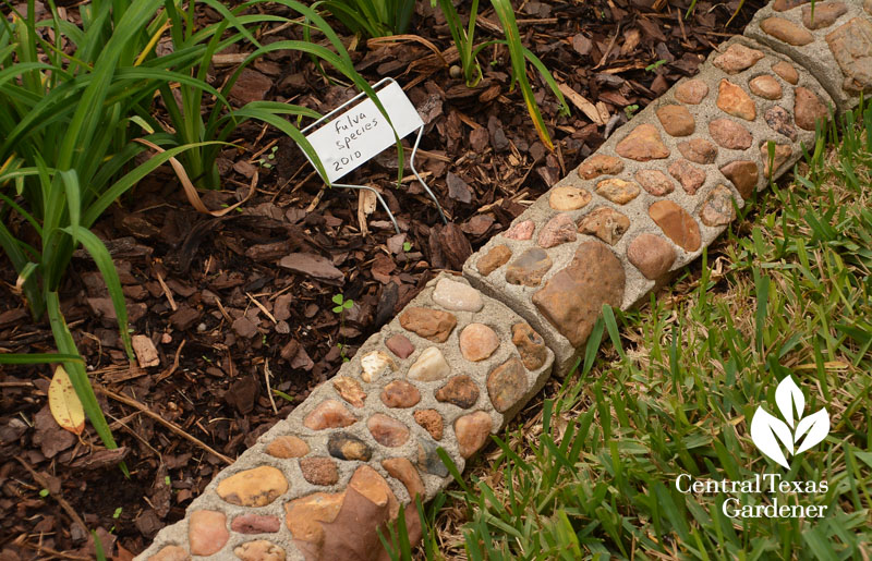 cute handmade concrete garden edgers Central Texas Gardener