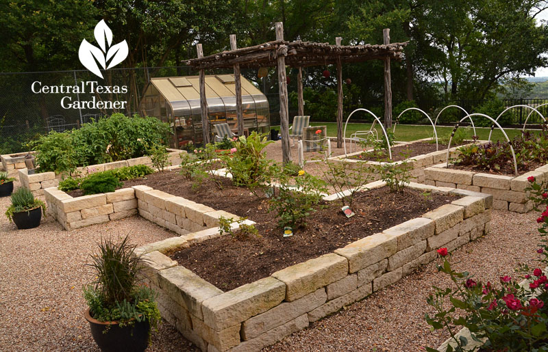 raised limestone beds ramada Central Texas Gardener