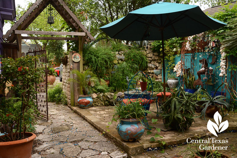 Mermaid garden patio Lucinda Hutson Central Texas Gardener
