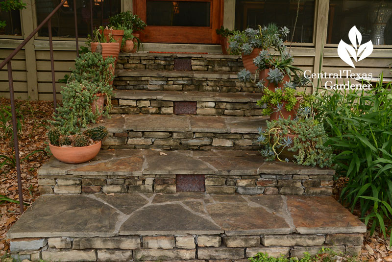 flag stone porch and sidewalk steps Central Texas Gardener