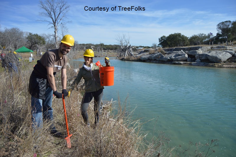 TreeFolks re-planting Blanco River Central Texas Gardener