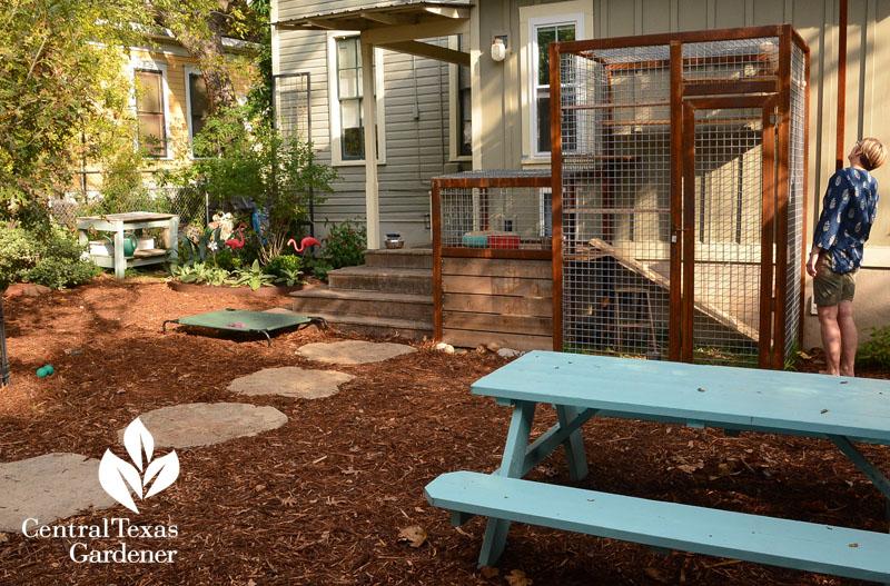 Catio, Dog Garden, Shade Plants, Pruning Agaves | Central Texas Gardener