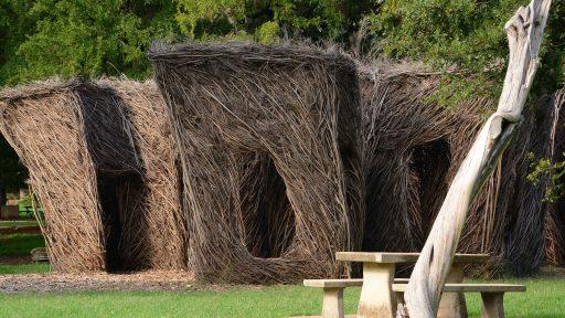 garden Pease Park and Stickwork