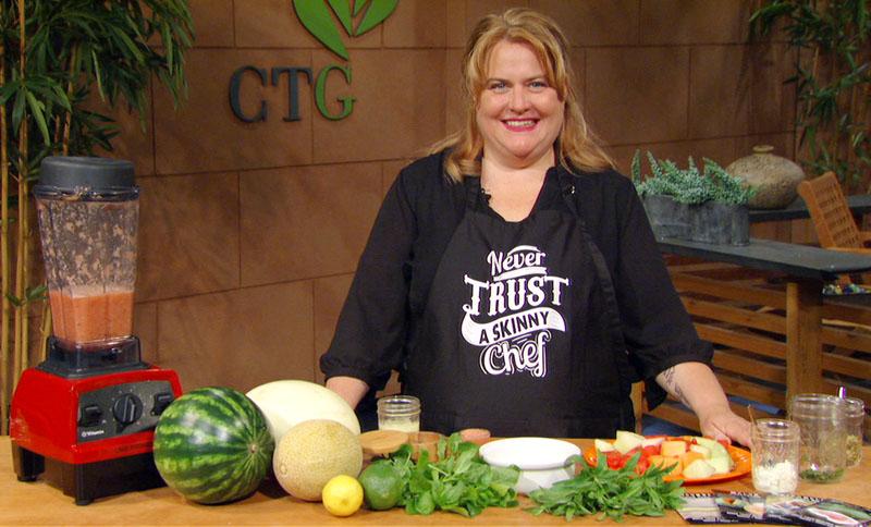 mint melon gazpacho with Molly Pikarsky