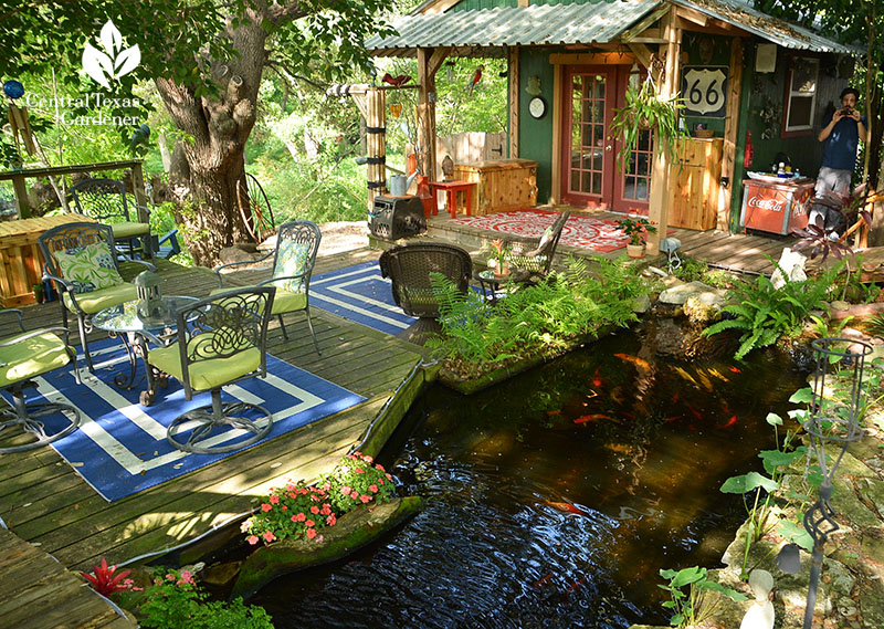 pond and outdoor living Barbara and David Hale Austin Pond Society Central Texas Gardener
