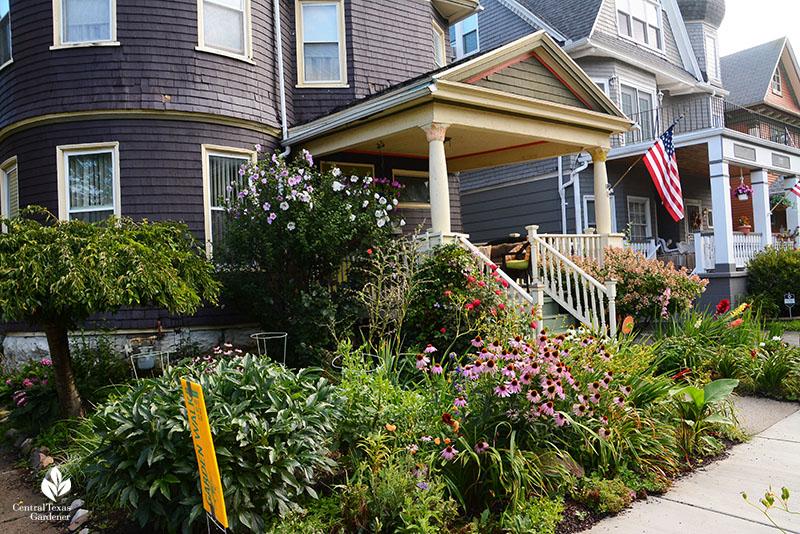 Buffalo New York charming front yard garden Central Texas Gardener