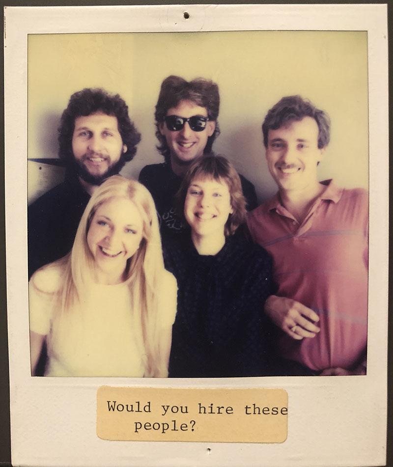Gary Menotti Doug Robb Linda Lehmurvista Tom Spencer Julie Ferris ca. 1983-84