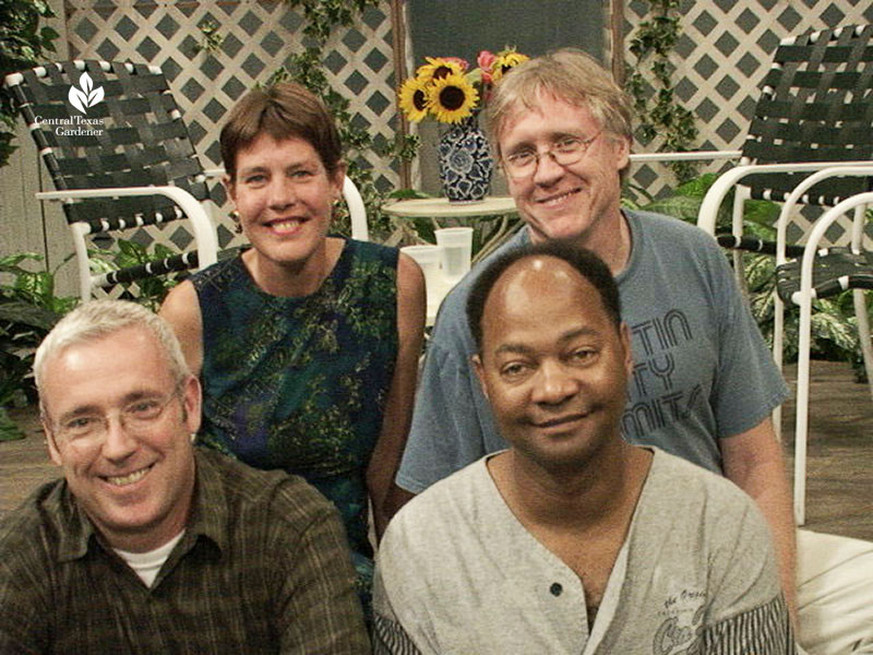 https://www.centraltexasgardener.org/wp-content/uploads/2020/08/Tom-Spencer-Michael-Emery-Linda-Lehmusvirta-Paul-Sweeney-early-Central-Texas-Gardener-set.jpg