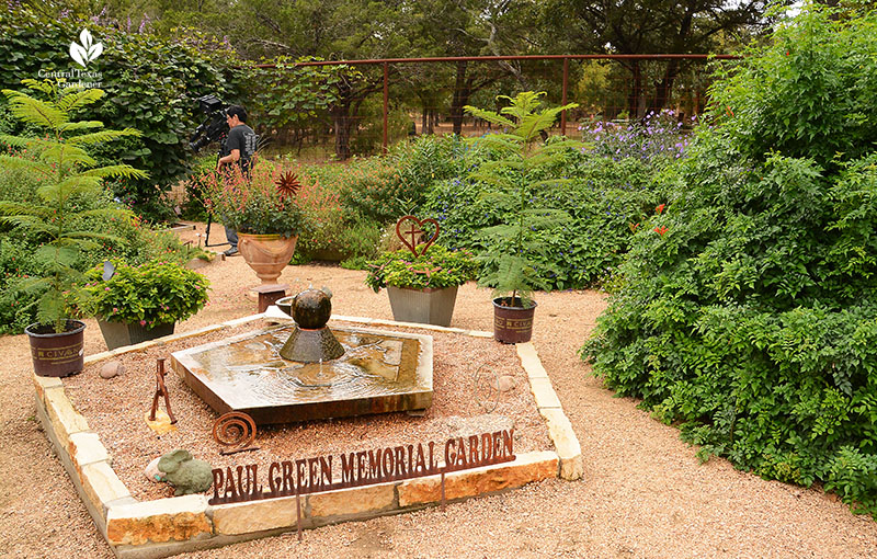 pentagonal pond Doug Green butterfly habitat Central Texas Gardener