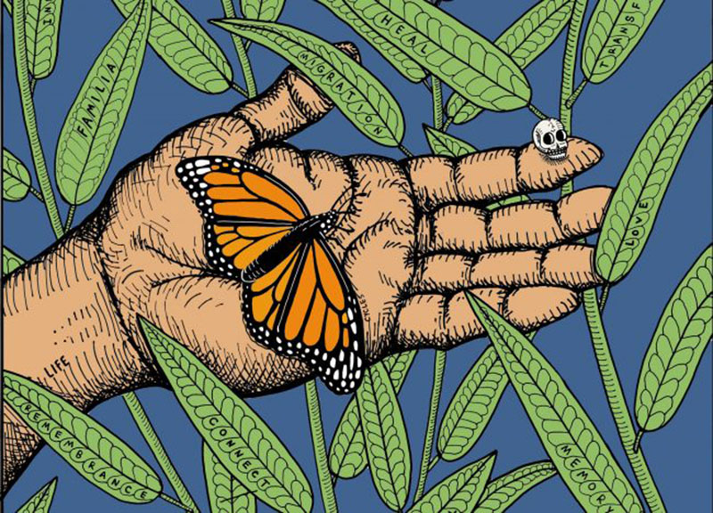 Day of Dead alter design artist José Sotelo Monarch Butterfly and Pollinator Festival 2020