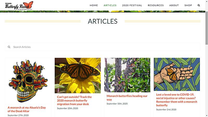 Texas Butterfly Ranch articles Central Texas Gardener