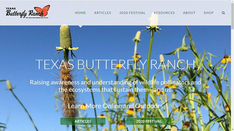 Texas Butterfly Ranch website pollinator resources Central Texas Gardener