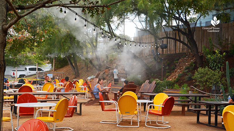Misting system Cosmic Coffee + Beer Garden patio