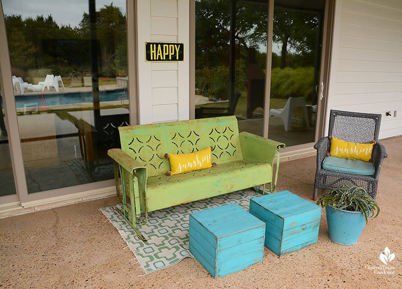 classic patio furniture recycled finds Julie Nelson Kay Angermann