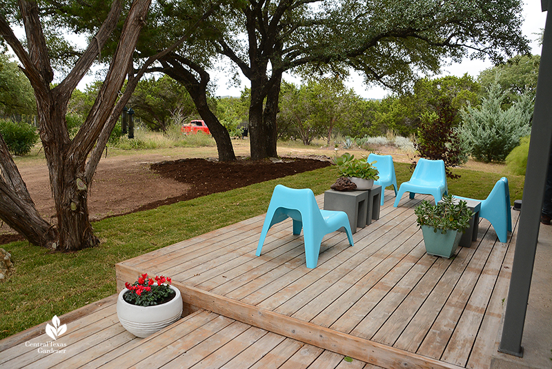 contemporary front porch Central Texas wildlife habitat and land Julie Nelson Kay Angermann