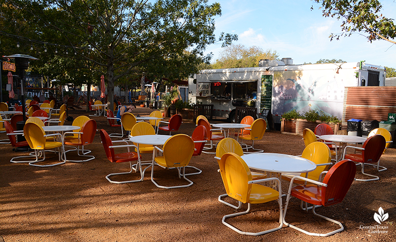 food truck patio Cosmic Coffee + Beer Garden