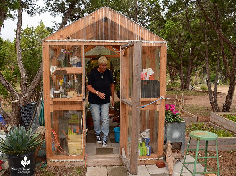 greenhouse for plant propagation Kay Angermann Julie Nelson garden