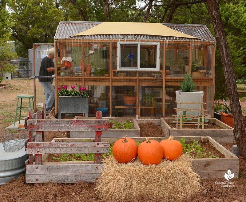 portable greenhouse Kay Angermann Julie Nelson garden Central Texas Gardener