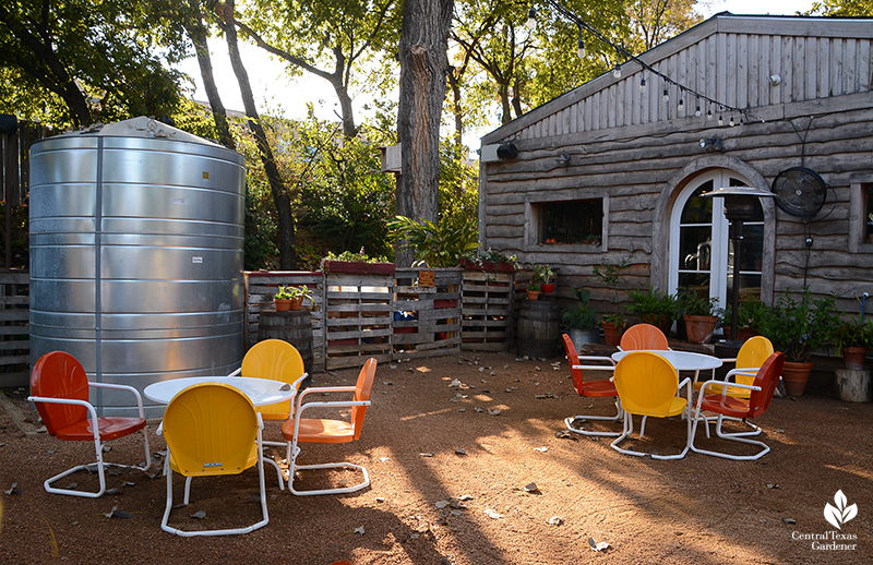 rainwater cistern Cosmic Coffee + Beer Garden