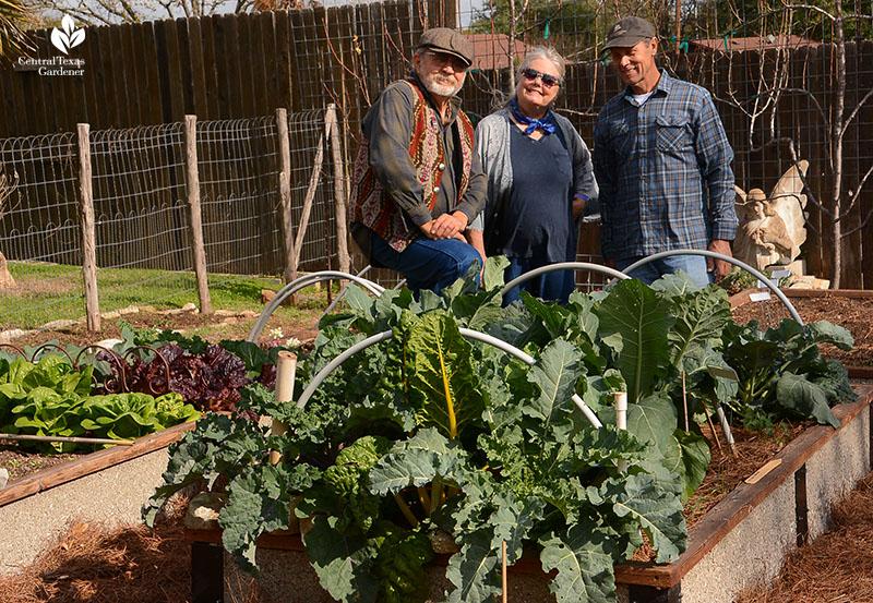 John and Jane Dromgoole David Stalker vegetable garden Central Texas Gardener