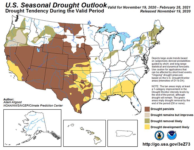 U.S. Seasonal Drought Central Texas Gardener