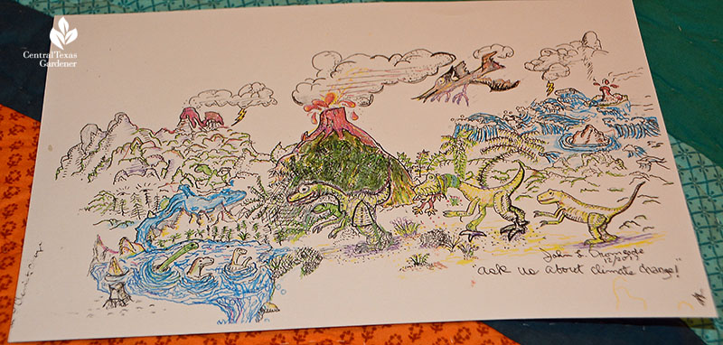climate change drawing by John Dromgoole Central Texas Gardener