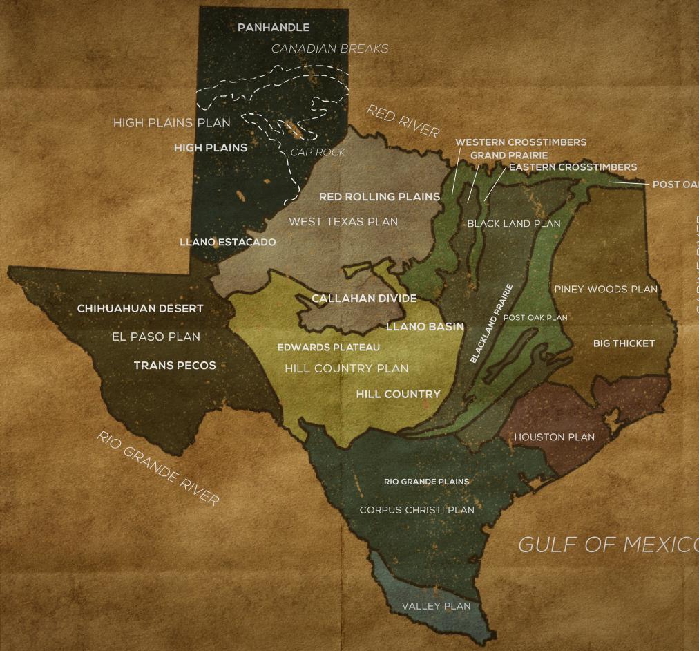 geologic map of Texas Central Texas Gardener