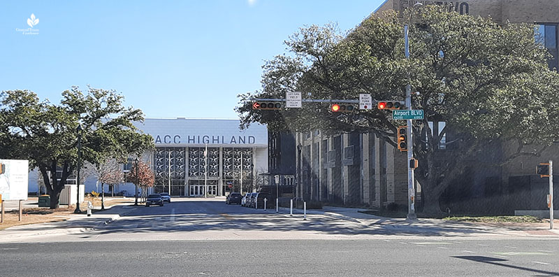 ACC Highland campus entrance from Airport Blvd Central Texas Gardener